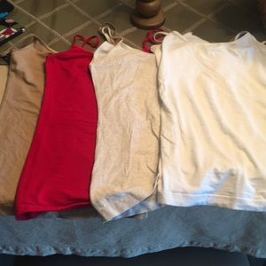 Various colored camisole tanks